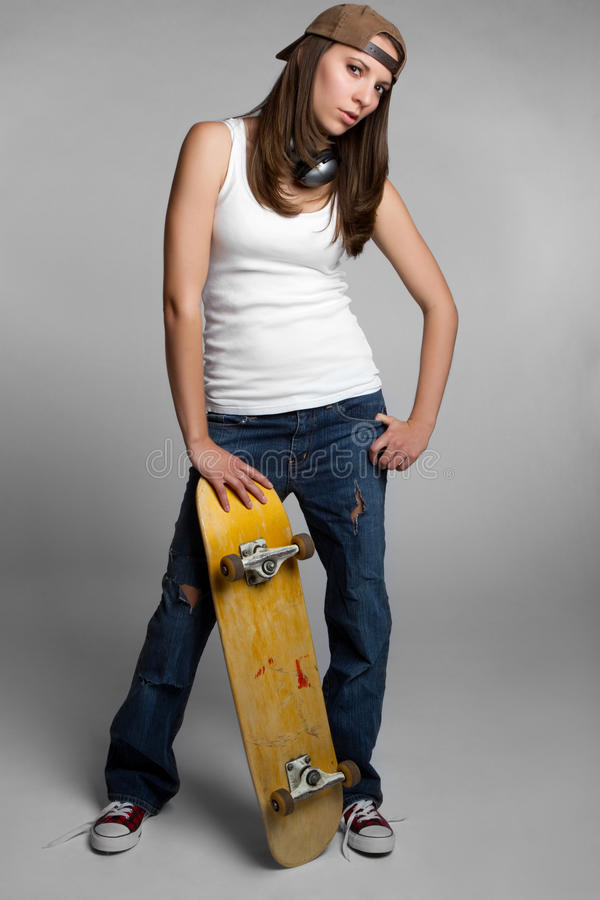 Download Skateboard Girl Royalty Free Stock Images - Image: 17442239