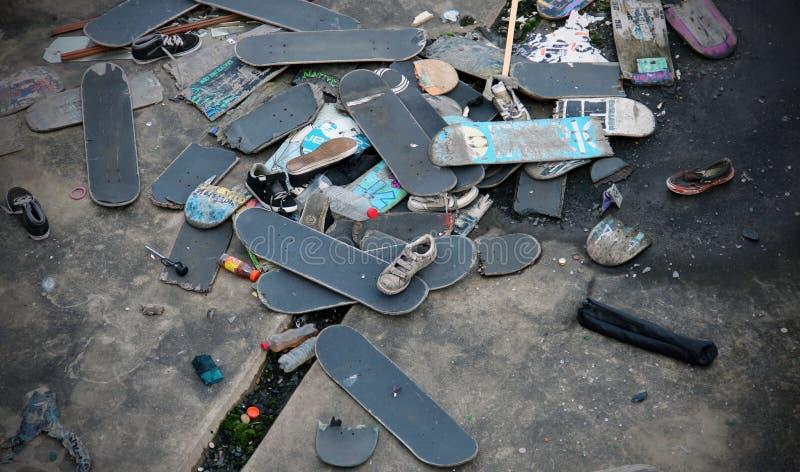 Skateboard Graveyard stock photography