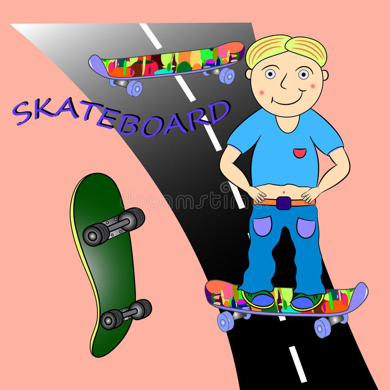 Skateboard-Illustration vektor abbildung