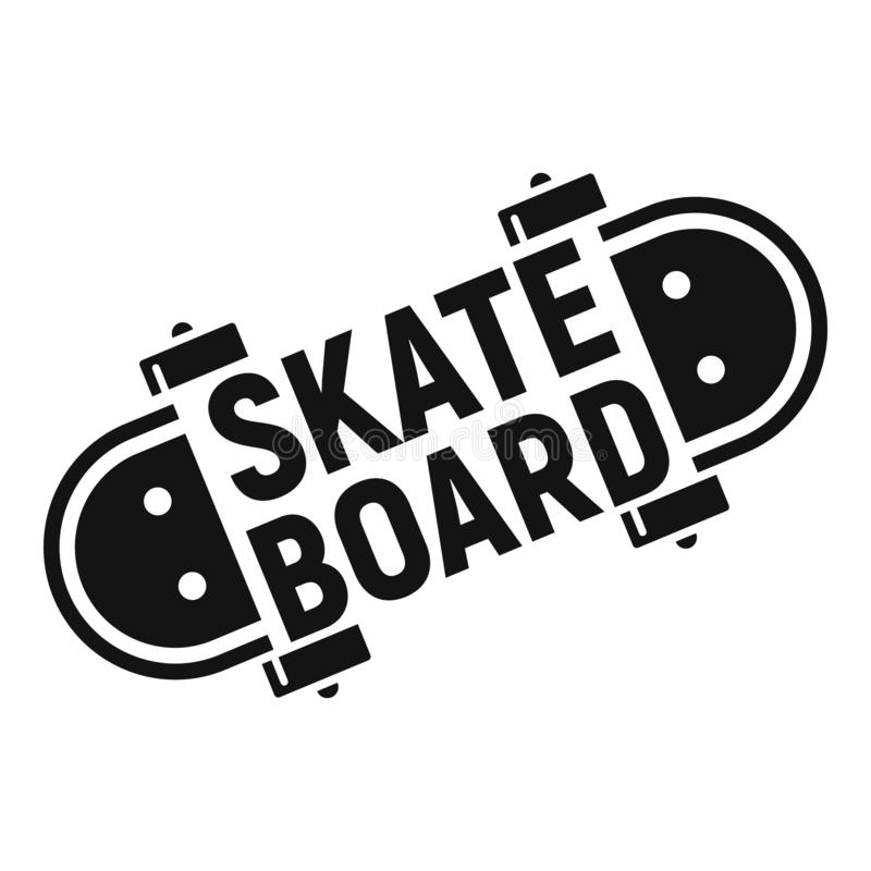 Skateboard logo, simple style royalty free illustration