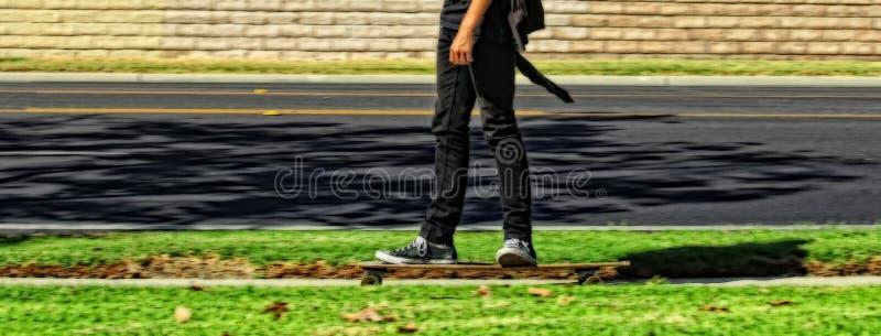 Skateboard motion royalty free stock photography