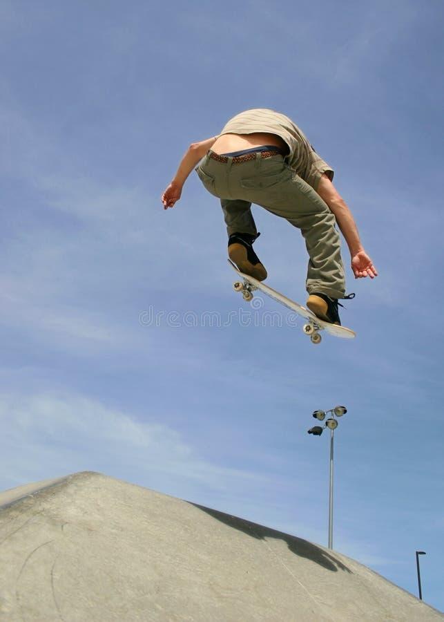 Skateboard Ollie stock foto's