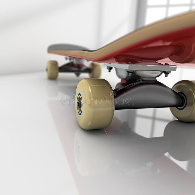 Skateboard op ruimte vector illustratie