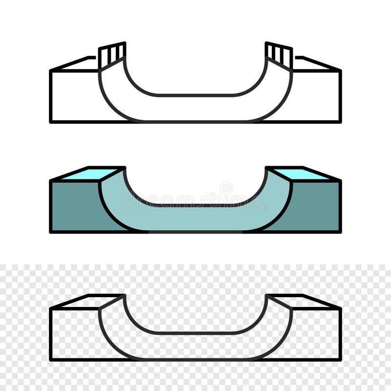 Free Skateboard Ramp Illustration. Side View Skate Park Construction. Stock Photo - 159763880