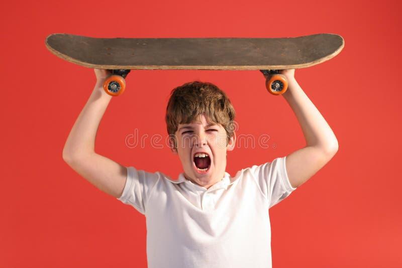 Skateboard scream stock photos