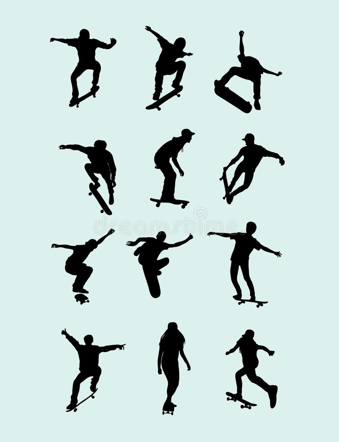 Free Skateboard Silhouette Stock Images - 59318374