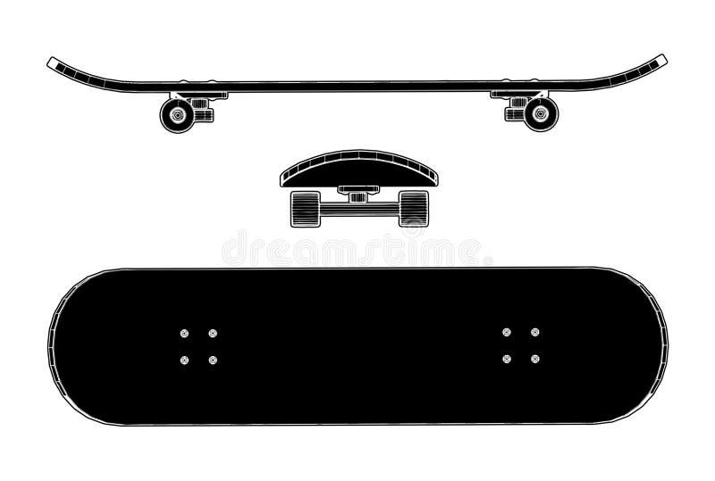 Skateboard-Vektor 01 lizenzfreie stockfotografie