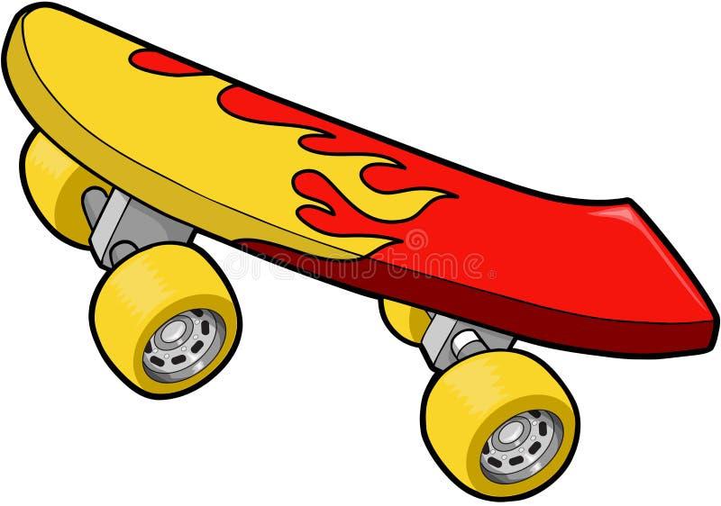 Skateboard-vektorabbildung stock abbildung