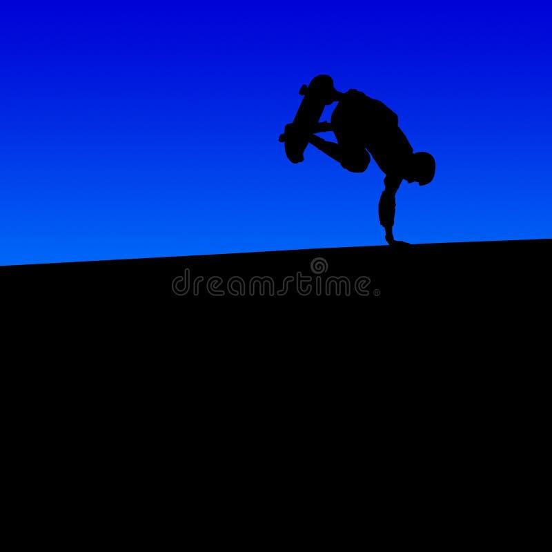 Skateboarder 2005 stock afbeelding