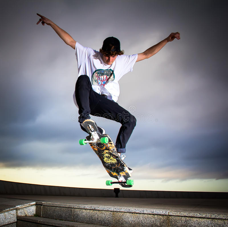 skateboarder fotografia de stock royalty free