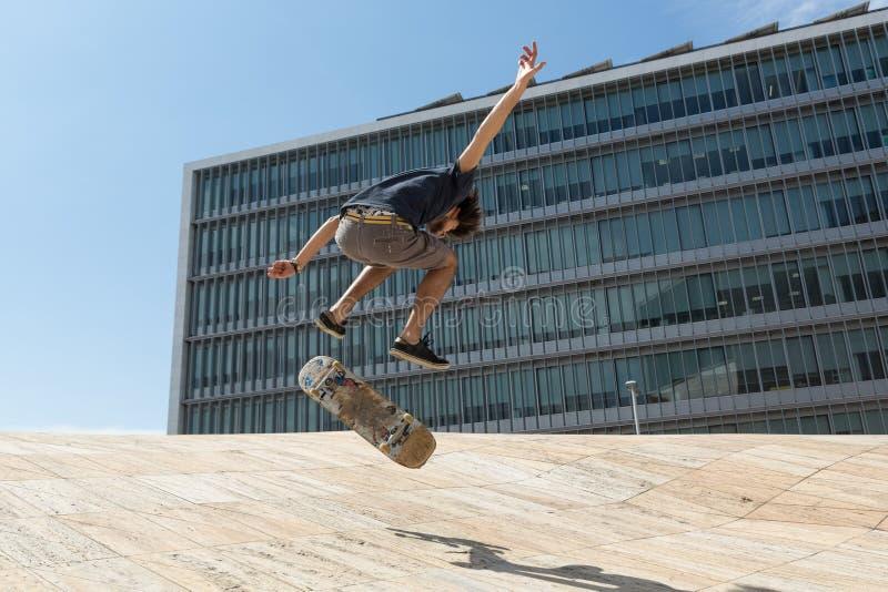 skateboarder foto de archivo