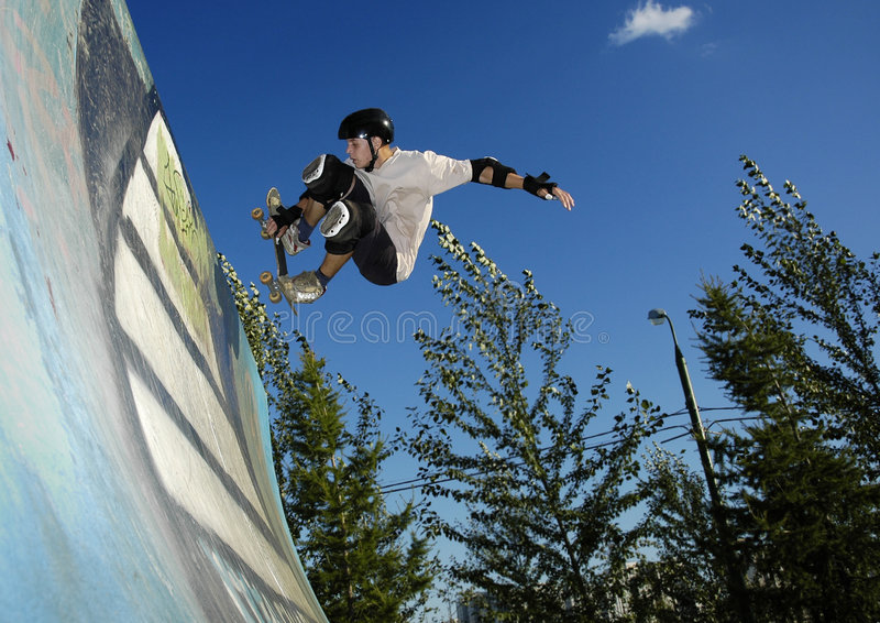 Skateboarder fotografia stock