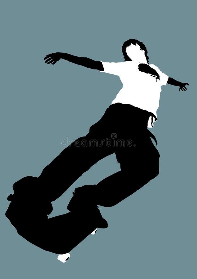 skateboarder vektor illustrationer