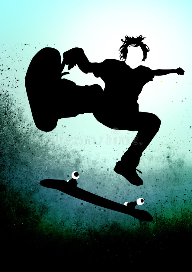 skateboarder stock illustrationer