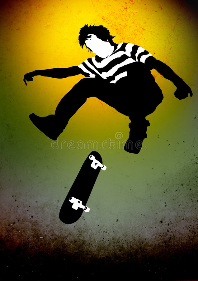 skateboarder royaltyfri illustrationer