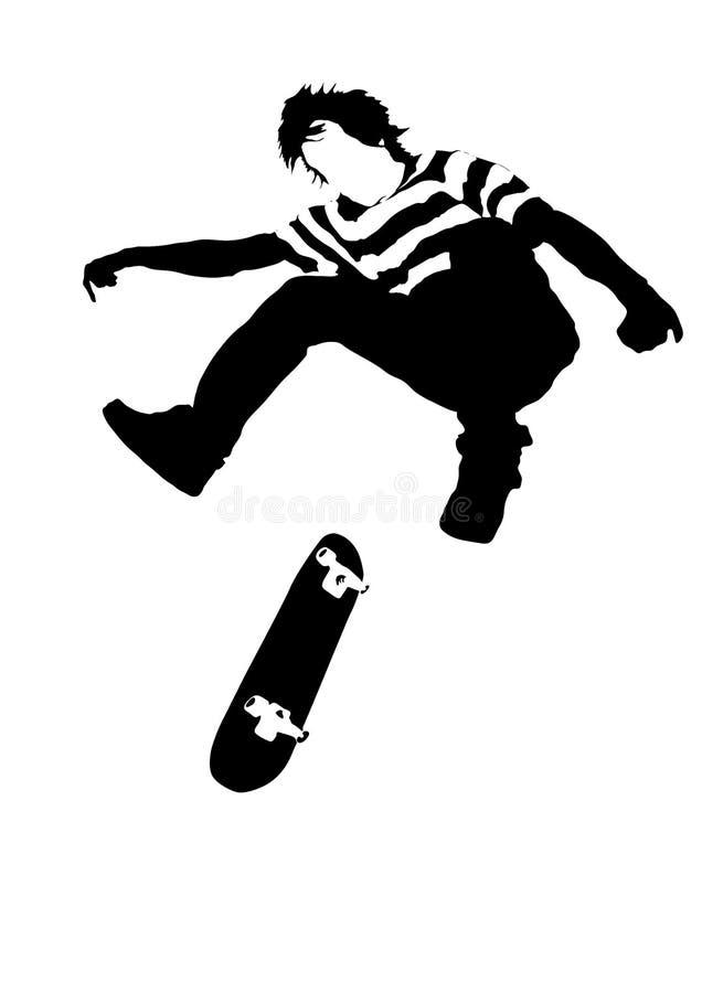 Skateboarder illustrazione vettoriale