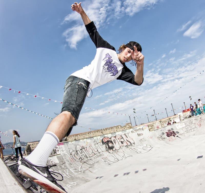 skateboarder imagenes de archivo
