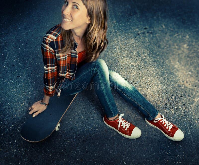 skateboarder photographie stock
