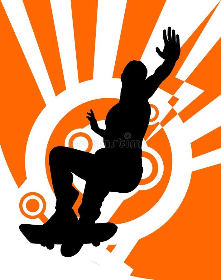 Skateboarder royalty free illustration