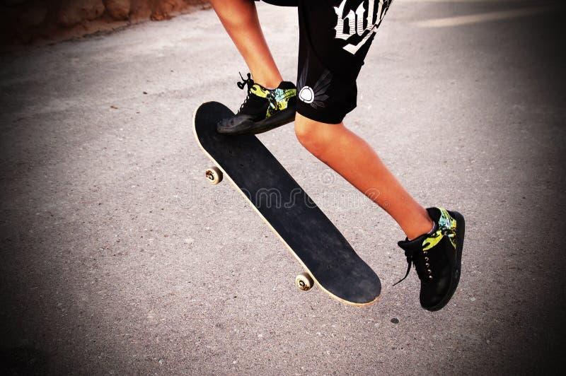 skateboarder fotografie stock