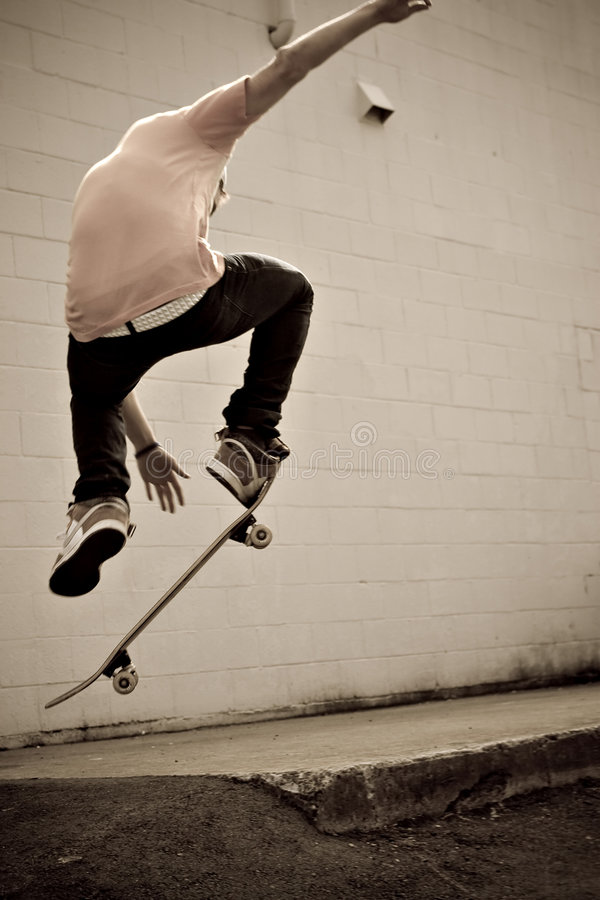 Skateboarder stock foto