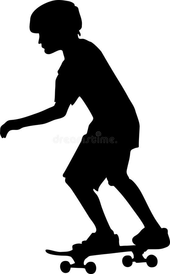 Skateboarder al livello immagine stock