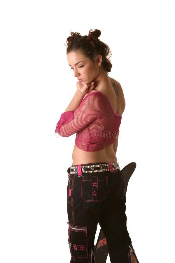 Skateboarder Chic stock photo