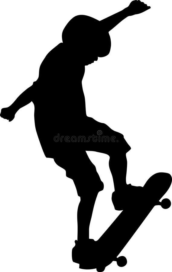 Skateboarder Doing Trick royalty free illustration
