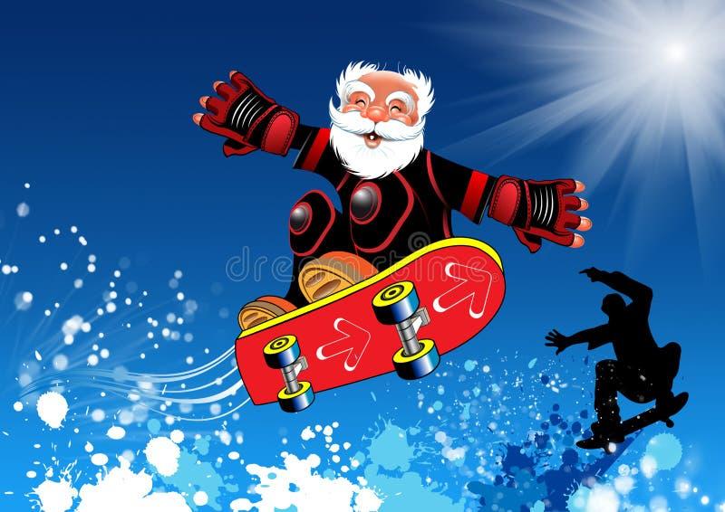 Skateboarder elderly male stock illustration