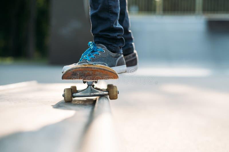 Skateboarder feet habit active lifestyle man stock photos