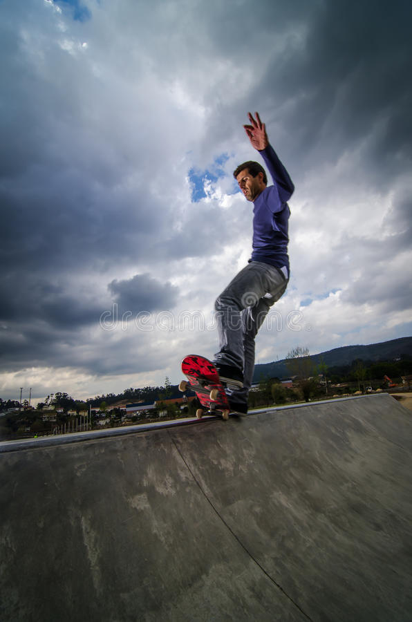 Download Skateboarder on a grind stock image. Image of deck, culture - 24252933