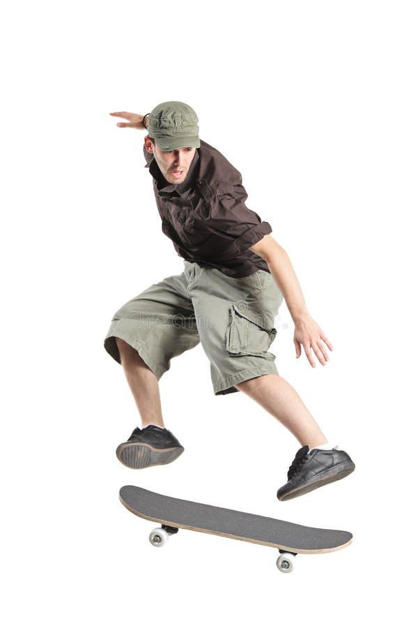 Skateboarder het springen royalty-vrije stock fotografie