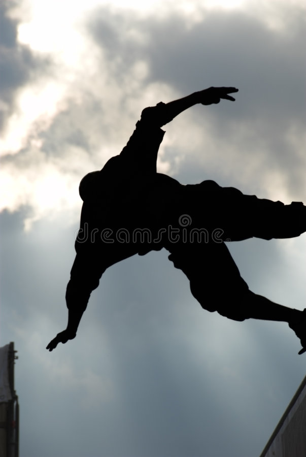 Download Skateboarder silhouette stock photo. Image of pursuit - 2419854