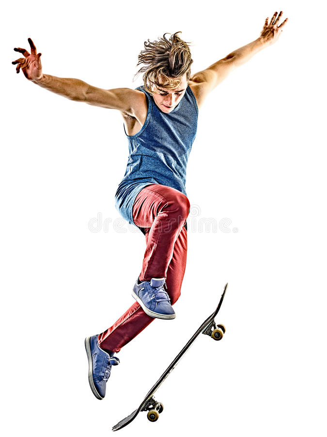 Free Skateboarder Young Teenager Man Isolated Royalty Free Stock Image - 84671916