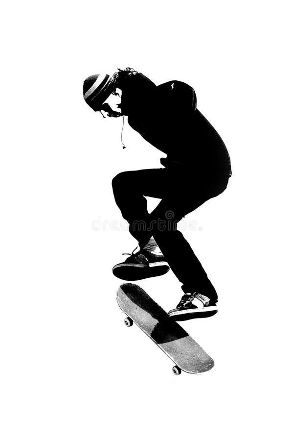 Skateboardfahrer stock abbildung