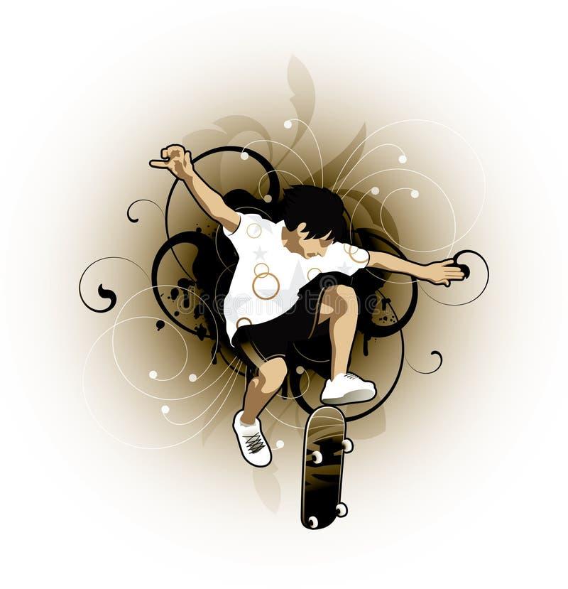 Download Skateboardfahrer vektor abbildung. Illustration von künstlerisch - 9091334