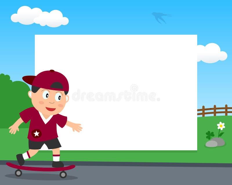 Skateboardfahrer im Park-horizontalen Rahmen vektor abbildung