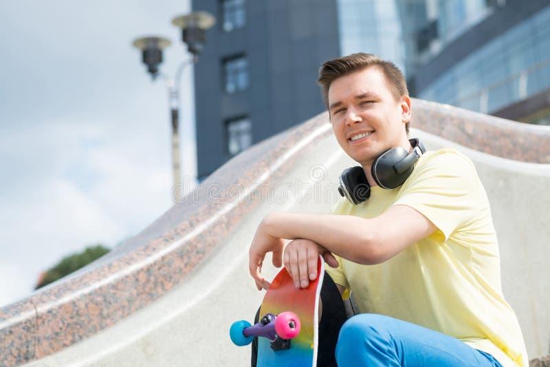 Skateboardgrabb arkivbilder