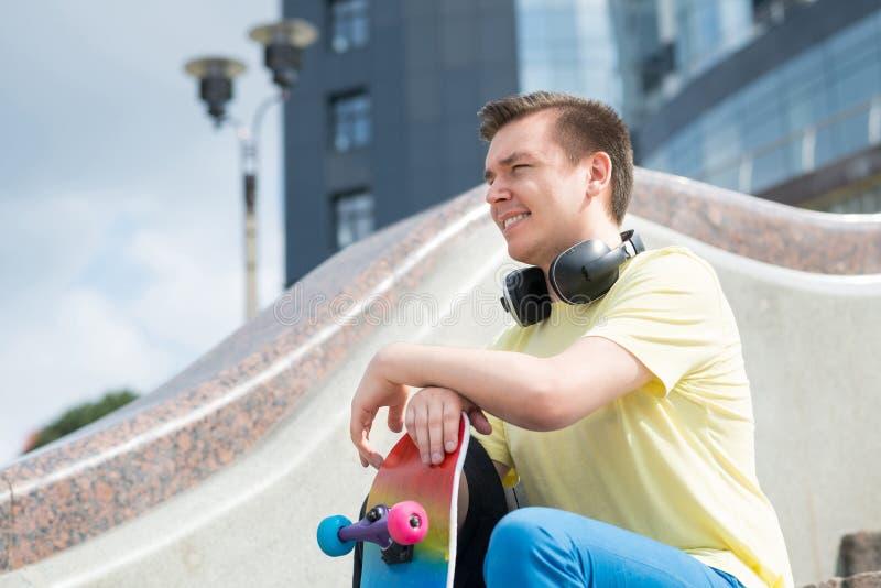 Skateboardgrabb royaltyfri fotografi
