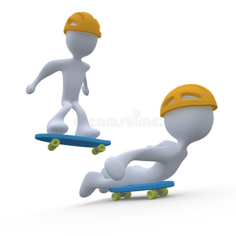 skateboarding иллюстрация штока