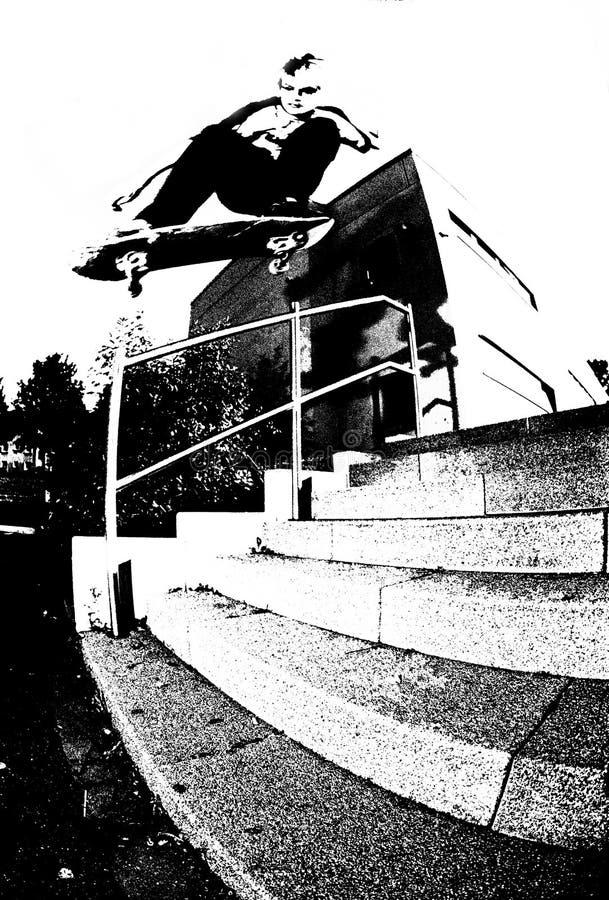 Skateboarding illustration de vecteur