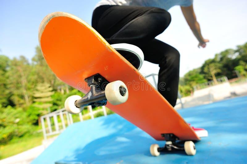 skateboarding fotografie stock