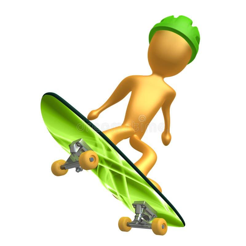 Skateboarding ilustração do vetor