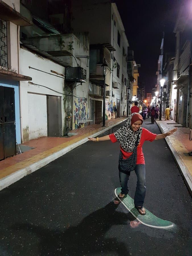 skateboarding photo libre de droits