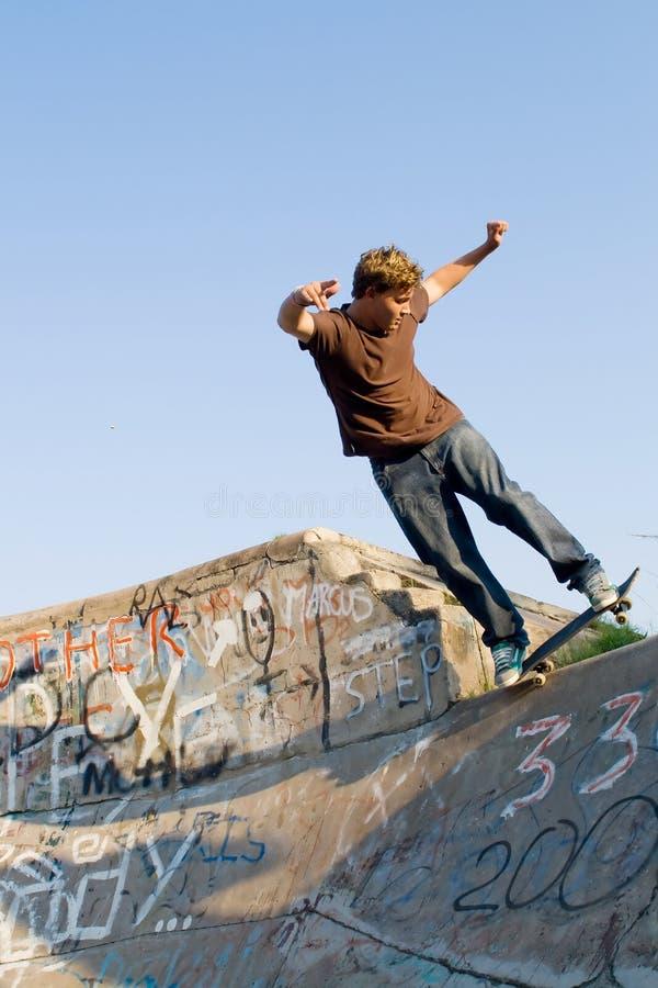 Skateboarding fotografía de archivo
