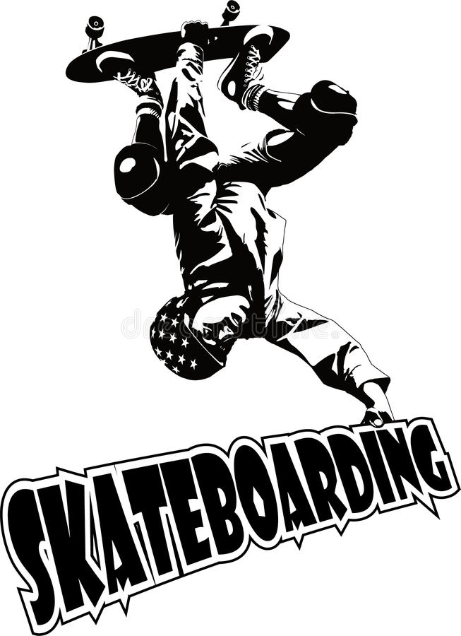 skateboarding illustrazione di stock