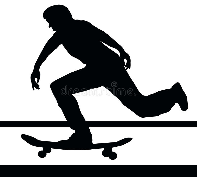 Skateboarding Building Up Speed royalty free stock photography