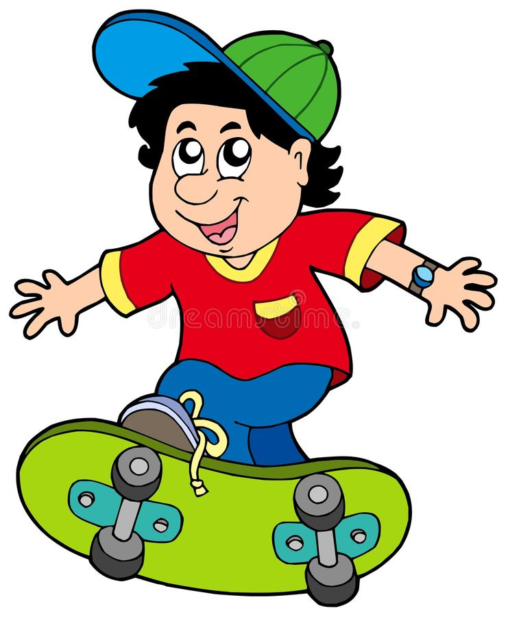 skateboarding de garçon illustration stock