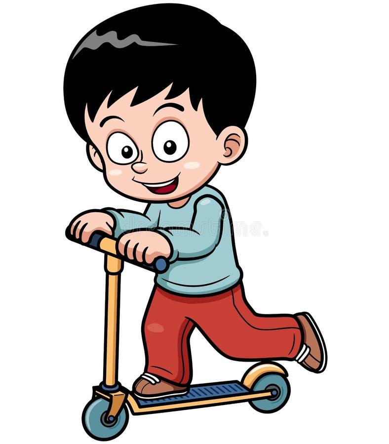Skateboarding de petit garçon illustration libre de droits