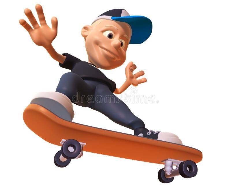 Skateboarding do miúdo ilustração stock